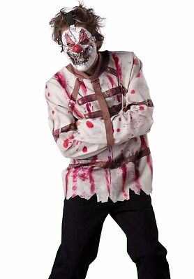 Psycho Circus Scary Clown Costume Bloody Horror Evil Adult - Plus Size 2XL 3XL - - Scary Plus Size Costumes