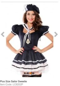 BLUE SAILOR FANCY DRESS OUTFIT SIZE 14/16 GREAT FOR A PARTY OR HEN DO