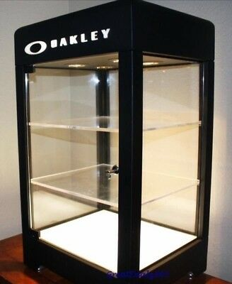 Oakley Counter Top Retail Display Case. 3 Levels with under lighting.