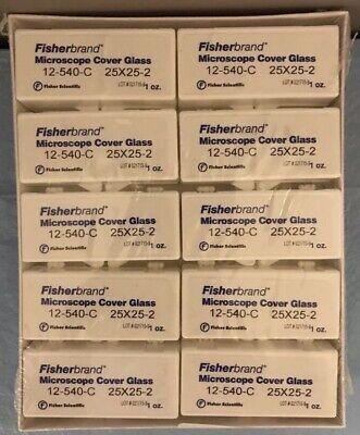 Fisher Scientific 12-540-c Microscope Cover Glass 25 X 25 - Box Of 10 Oz