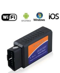 ELM327 WiFi OBD2 OBDII Scanner IOS , ANDROID, WINDOWS