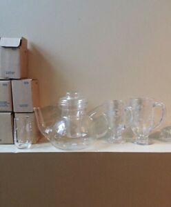 Princess House Crystal teapot and glasses