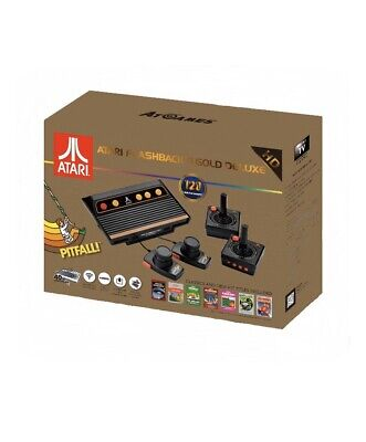 Atari Flashback 8 Gold Deluxe with 120 Games -Includes 2 Controllers and Paddles