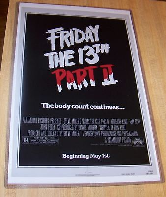 Friday the 13th part 2 Steve Dash 11X17 Movie Poster