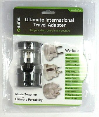 Sima International Plug - SIMA SIP-3 International Compact Travel Power Plug Adapter Set for Europe,China