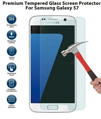 For Samsung Galaxy S7 .45mm Tempered Shatterproof Glass Screen Cover Protector