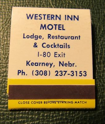 Matchbook   Western Inn Motel Kearney Ne Full Best Western