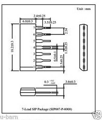 Panasonic An360 Sip-7 Low Noise Pre-amplifier Circuit