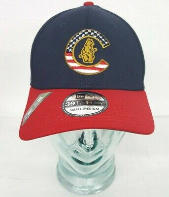 Chicago Cubs New Era 2019 Stars & Stripes 4th of July 39THIRTY Flex Hat NEW