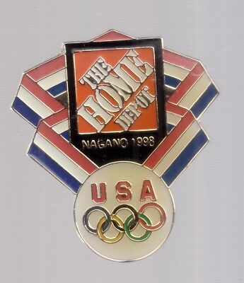 1998 Home Depot Nagano Olympic Pin USA Rings for sale  Cartersville