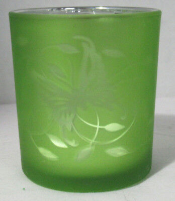 Yankee Candle Votive Holder V/H ELECTROPLATE GREEN BUTTERFLY swirl leaves
