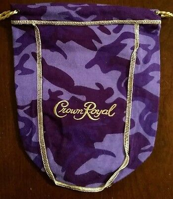 Crown Royal Whiskey Limited Time Camo Collectible Drawstring Bag *Rare*