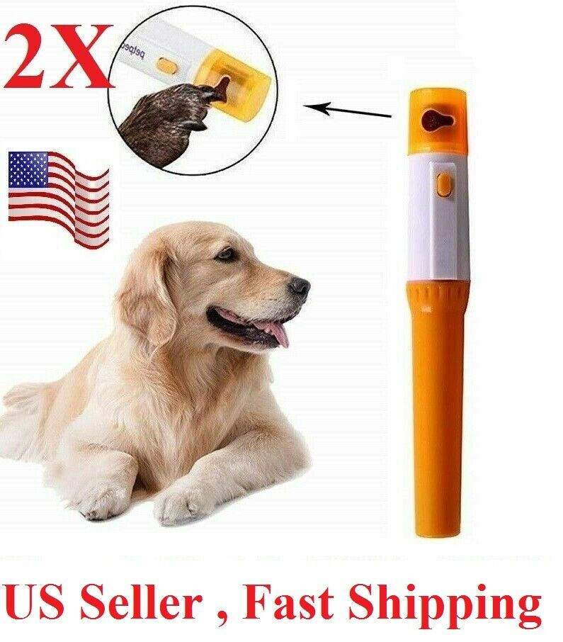 2 pcs Electric Dog Nail Grinder Clippers Cutters Trimmer Safe Painless for  Dogs Dog Supplies