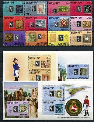 Bhutan 1990 150 Jahre Briefmarken Stamps 1347-1358 Block 286-297 Postfrisch MNH