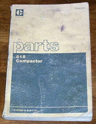 Caterpillar 815 Compactor 91p528 Parts Manual