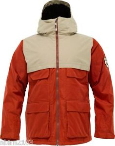 Mens-Burton-Arctic-Jacket-L-Red-Coat-Snowboard-Snow-Ski-Parka-Rain-NWT-New