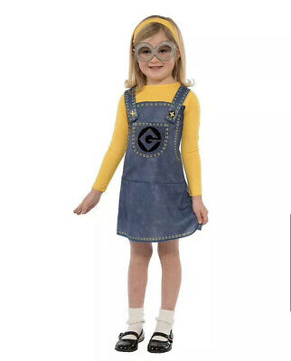 Kid Minion Halloween Costume (Halloween Costume Childrens Despicable Me Minion Dress Up Set Size 8-10)