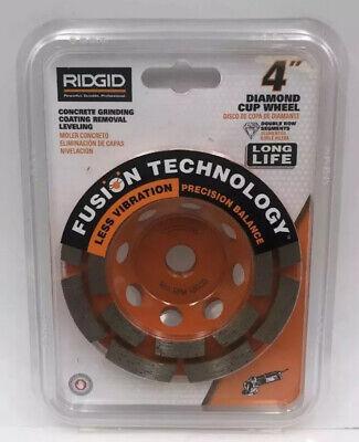 New Ridgid 4 Double Row Diamond Cup Wheel- Awd40 58 Arbor Concrete Grinding