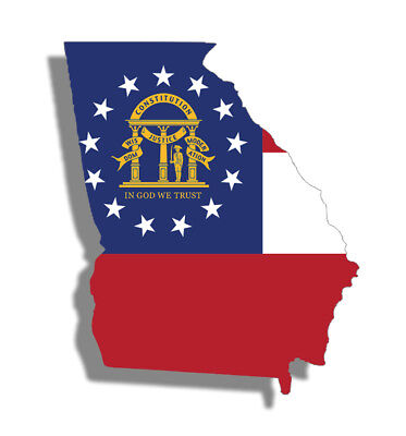 Used, Georgia State Flag Sticker Decal GA South Southern Self Adhesive Simply Vinyl  for sale  Shipping to Canada