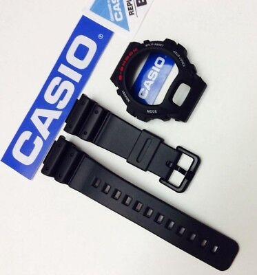 CASIO Genuian DW-6900 DW6900 DW-6900 DW6600 G-Shock Black BAND & BEZEL Combo