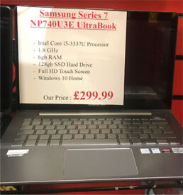 Samsung Series 7 - NP740U3e - i5 - 6gb - 128gb - Receipt & Warranty
