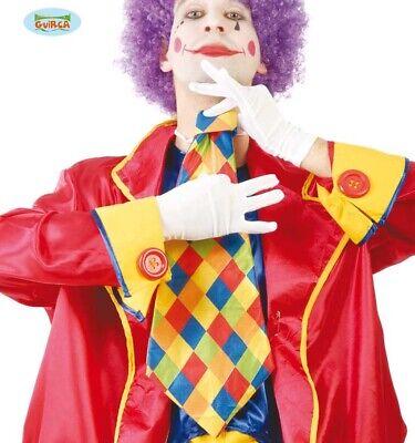 Erwachsene Clown Kostüm Krawatte Kariert Komödie Jumbo Krawatte - Jumbo Clown Kostüm