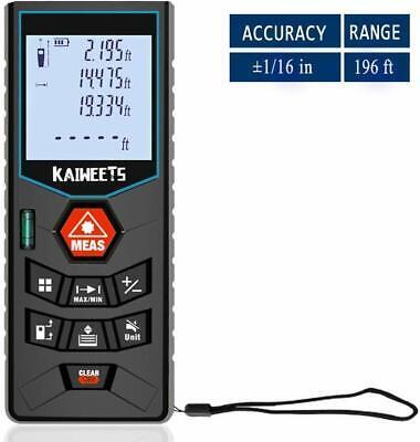 Laser Measure 196ft Minft Laser Distance Measure With Mute Function Backlit
