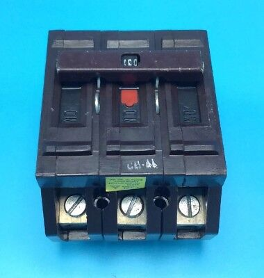New Circuit Breaker Wadsworth A3100 100 Amp 3 Pole 240v Plastic Tabs Plug In