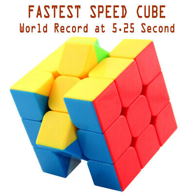 Fastest Stickerless Speed cube 3x3 magic puzzle ,Set World Record 5.25s