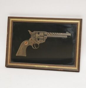 Silhouette of COLT .45 PEACEMAKER in Sterling Silver & 24k Gold