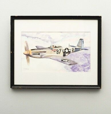 """P-51"" Watercolor by Mac McCormick!"