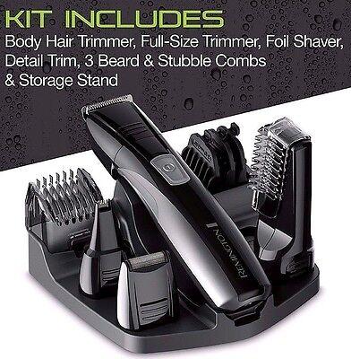 Men Hair Trimmer Multi Groom Shaver Lithium Powered Head Body Nose Groomer Kit