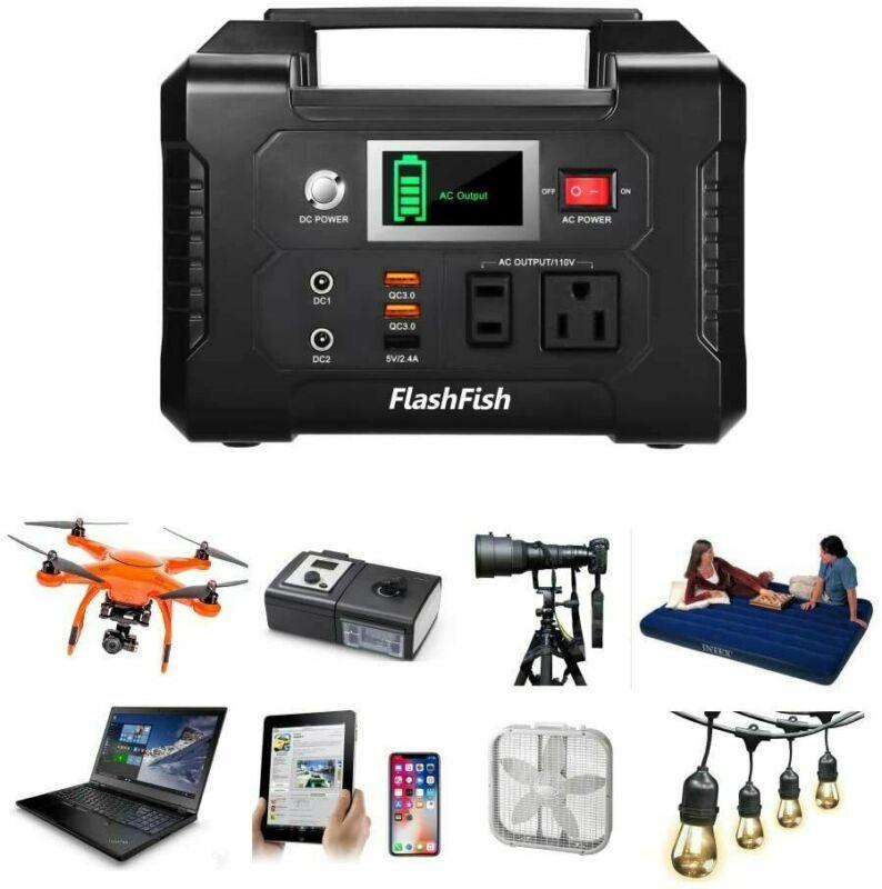 FlashFish 200W Portable Power Station 40800mAh Solar Generator Bank CPAP Outdoor
