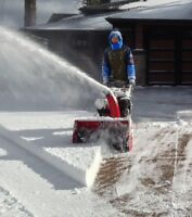 Driveway snow blowing services