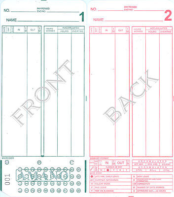 2000 Amano Mjr7000 Time Clock Cards 20 Groups 000-099