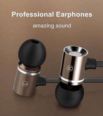 Dynamic METAL Pro HD Bass Stereo 3.5mm Wired In Ear Headphone Earphone Gold  K6