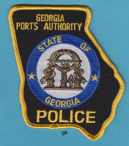 GEORGIA STATE PORTS AUTHORITY POLICE SHOULDER PATCH  State Shape.
