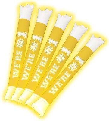 Brite Boltz Spirit Yellow & White Light Up Thunder Bang Sticks Party Supplies (Spirit Decorations)