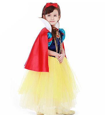 schneeweiß Karnevalkleid Kleid Princess Snow White Mädchen Kostüme SNOW001 -cl