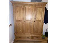 Oak furniture land edinburgh range triple wardrobe