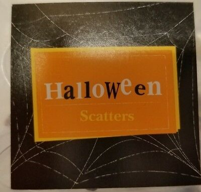 Happy Halloween Scatters Glass Party Table Decorations Spiders Bats - Happy Halloween Decorations