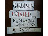 Handmade garden sign unique bargain