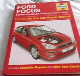 Haynes Manual Ford Focus 2001-2005 Petrol & Diesel
