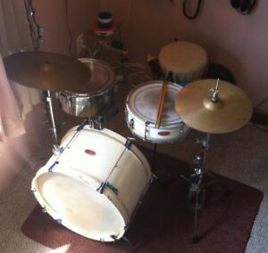 Vintage 2 piece John Grey and Sons drums