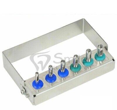 Dental Implant Tissue Punch Kit 6pcs Set Surgical Surgery Wfree Bur Holder Ce