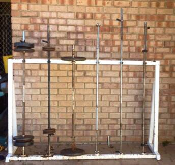 Gym Bar Rack (Bars not included)