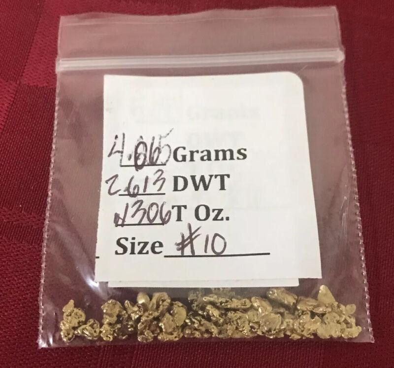 GOLD NUGGET Alaska Natural Placer 4.065g Ganes Creek High Purity 92-94%