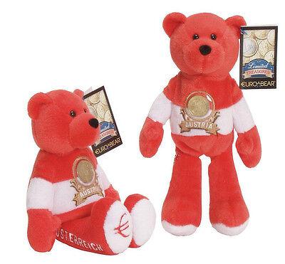 "Euro Coin 9"" Plush Collectible Stuffed Limited Treasures Teddy Bear - Austria"
