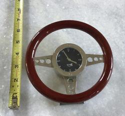 Desk/Wall Sport Classic Race Car Steering Wheel Clock In High Gloss Trim