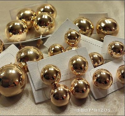 10MM 12MM 18MM 20MM GOLD SILVER LARGE IRREGULAR BALL or HALF DOME STUD EARRINGS 18 Mm Half Ball